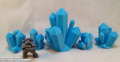 Crystals BLUE Medium 5 Pack