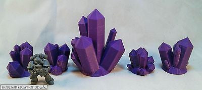 Crystals PURPLE Medium 5 Pack