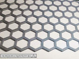 "Hex Sheet 1mm x 8 3/4"" x 4"