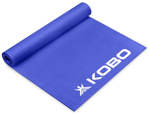 Kobo 4 mm Thick Yoga Mat Long  5' ft x 2 ft (Blue)