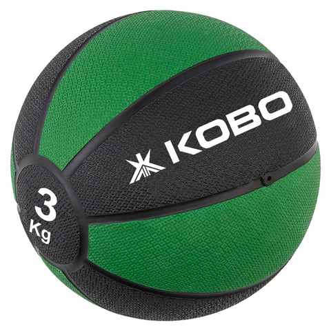 Kobo 3 Kg Training - Medicine Ball / Slam Ball with Easy-Grip Textured Surface and Ultra-Durable Rubber Shell (Imported)