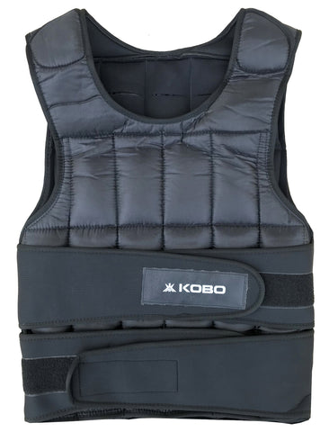 Kobo 10 Kg Adjustable Weighted Vest PRO Unisex for Fitness Workouts / Taining Gym Vest (Imported)