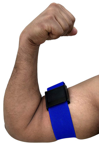 Kobo WTA-39 Elasticized-Fabric Adjustable Occlusion Training Bands (Blue)