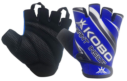 Kobo WTG-25 Lycra-Spandex Gym Gloves (Large)