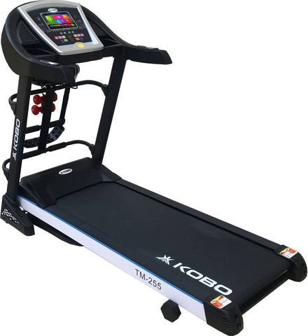 Kobo TM-255 Steel Motorised Treadmill (Black)