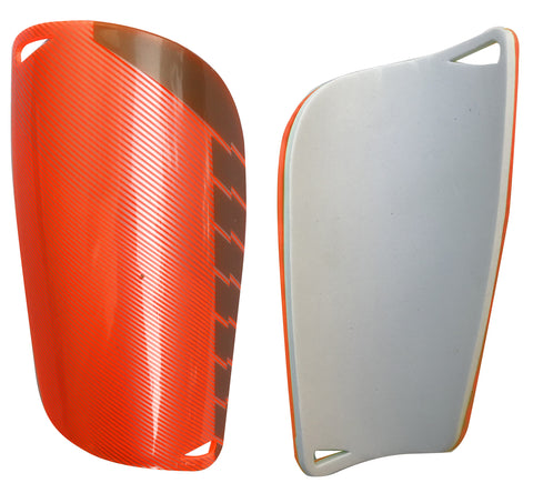 "Kobo 6.5"" Football Shin Guard 2233 (Orange/Silver)"