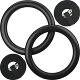Kobo Fitness Gymnastics Rings/Roman Ring with Straps & Buckles for Cross Fitness Functional Training and Total Body Conditioning at Home (Imported)