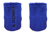 Kobo 3 inch Wrist Band Cotton (Pair) (Imported) (Blue)