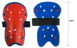 "Kobo 6"" Football Shin Guard 2223 With Elastic New Style (Red/Blue)"