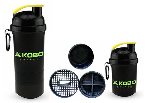 KOBO Shaker Sipper Bottle 400 ml (Imported) For Gym, Camping & Hiking