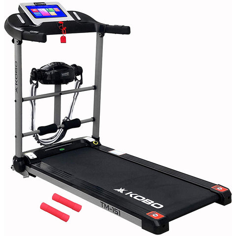 Kobo TM-151 1.5 H.P Treadmill with 10 Inches TFT Screen (Free Installation Assistance)