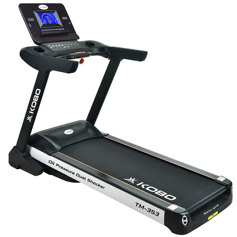 Kobo TM-353 Semi Commercial 3.5 H.P Auto Incline Motorized Treadmill with 7 Inches LCD Screen and Bluetooth (Free Installation Assistance)