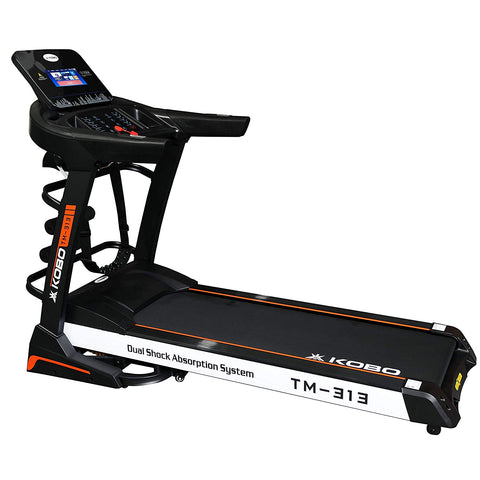 Kobo TM-313 Semi Commercial 3 H.P Auto Incline Multi Function Motorized Treadmill with 7 Inches TFT Screen with WiFi (Free Installation Assistance)