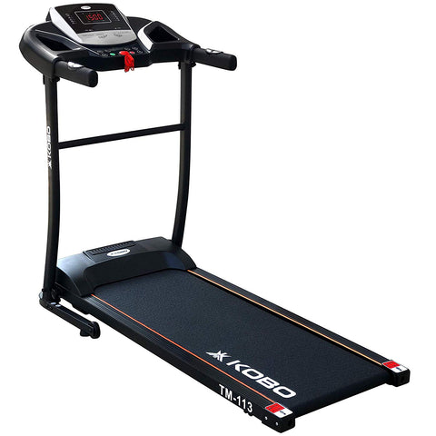 Kobo TM-113 Steel 1HP Motorized Treadmill (Black)