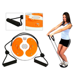 Kobo Magnetic Waist Twister Disc Fitness Massage Round With Hand Ropes Foot Massager
