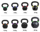 Kobo Cast Iron Kettlebells for Strength and Conditioning, Fitness, and Cross-Training - LB and KG Markings (10 Kg)