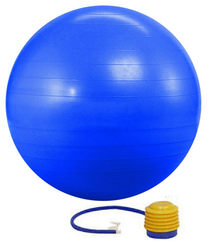 Kobo Gym Ball 55 cm with foot pump Anti Burst Blue Colour(GB-1-BLUE)