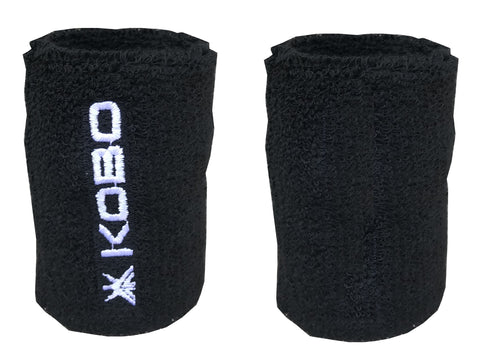Kobo 3 inch Wrist Band Cotton (Pair) (Imported) (Black)
