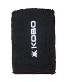 Kobo 5 inch Wrist Band Cotton (Pair) (Imported) (Black)