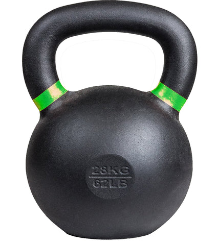 Kobo Cast Iron Kettlebells for Strength and Conditioning, Fitness, and Cross-Training - LB and KG Markings (28 Kg)