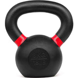 Kobo Cast Iron Kettlebells for Strength and Conditioning, Fitness, and Cross-Training - LB and KG Markings (8 Kg)
