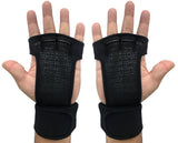 Kobo WTG-18 Black Professional Best Gymnastic Hand Grips / Cross Fitness Gloves for Pull Ups / Gym Gloves For Fitness / Functional Training Hand Protector