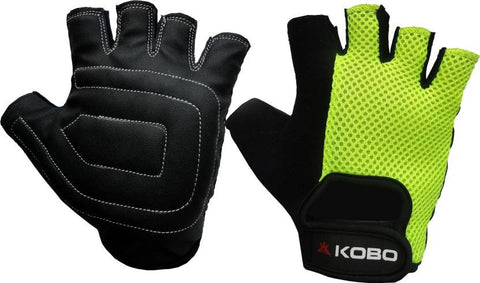 Kobo Ladies Exercise Weight Lifting Grippy Hand Protector Padded Gym & Fitness Gloves