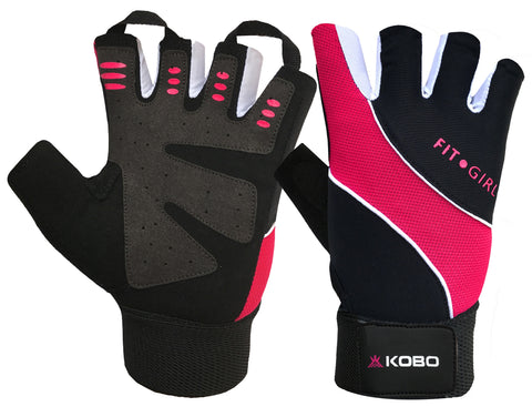 Kobo WTG-15 Ladies / Girls Gym Gloves For Fitness / Functional Training Hand Protector with Wrist Support