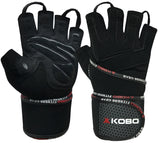 Kobo WTG-14 Professional Gym Gloves For Fitness / Functional Training Hand Protector with Wrist Support