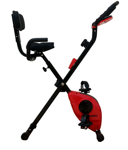 Kobo MAGNETIC EXERCISE BIKE / EXERCISE CYCLE X-BIKE RED (FOLDING)