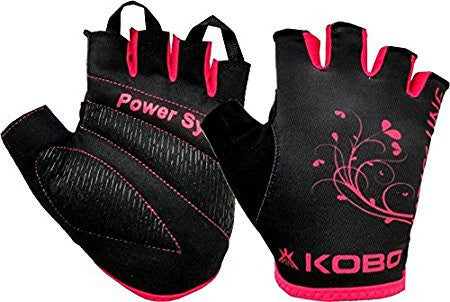 Kobo LadiesExercise Weight Lifting Grippy Hand Protector Padded Gym & Fitness Gloves
