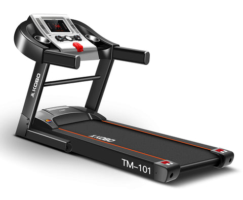 Kobo 2 H.P Steel Motorised Treadmill (Black)