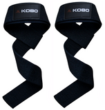 Kobo Power Gym Training Padded Weight Lifting Exercise Straps