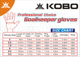 Kobo Futsal 9.5 Latex Football Goal Keeper Gloves (Blue)
