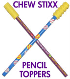 Chew Stixx Pencil toppers - flavoured