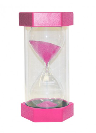 Small Coloured Sand Timer - 2 Minute Pink