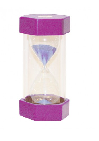Small Coloured Sand Timer - 15 Minute Purple