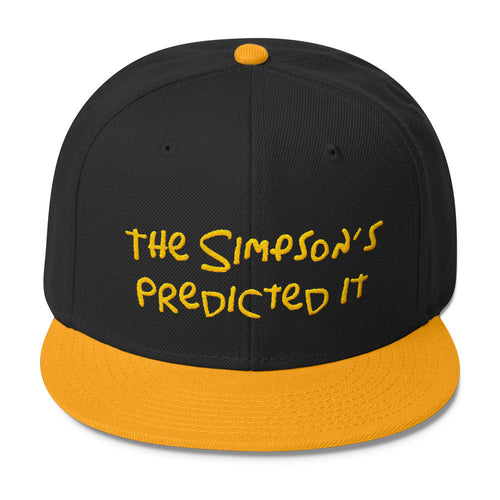 The Simpsons Predicted it Wool Blend Snapback