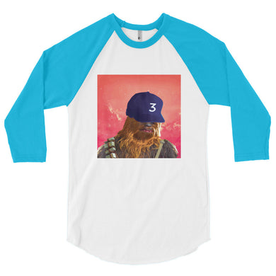Chewie The Rapper 3/4 sleeve raglan shirt