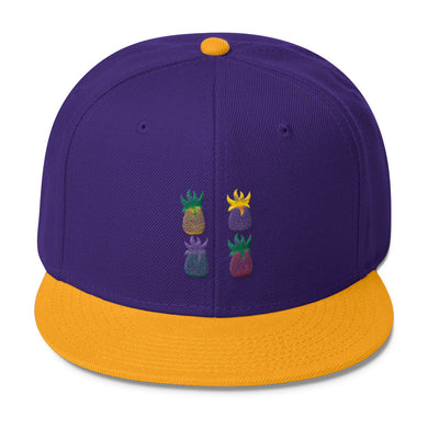 Pineapple Pop Art Wool Blend Snapback