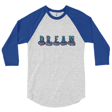 Blue Dream 3/4 sleeve raglan shirt