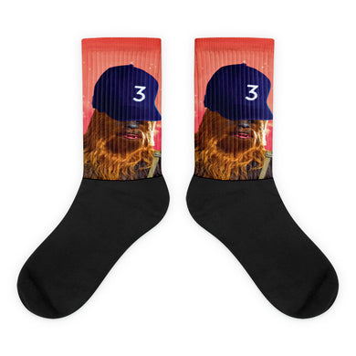 Chewie the Rapper Black foot socks