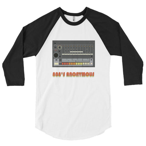 808's Anonymous 3/4 sleeve raglan shirt