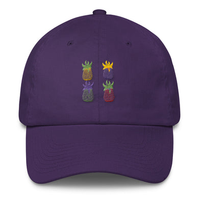 Pineapple Pop Art Cotton Cap