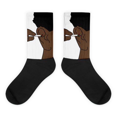 The Abstract Black foot socks