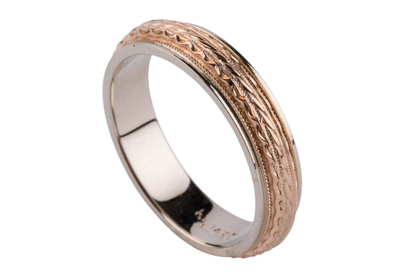 14k Fancy Yellow Gold Band - Aatlo Jewelry Gallery