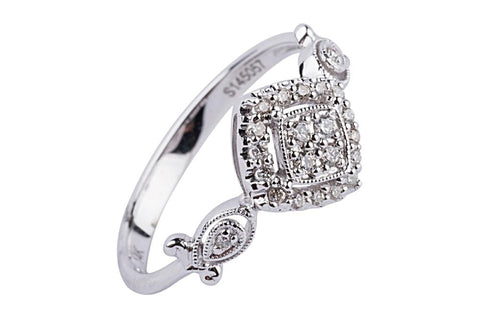 Aatlo Jewelry Gallery 14k White Gold and Diamond Ring - Aatlo Jewelry Gallery