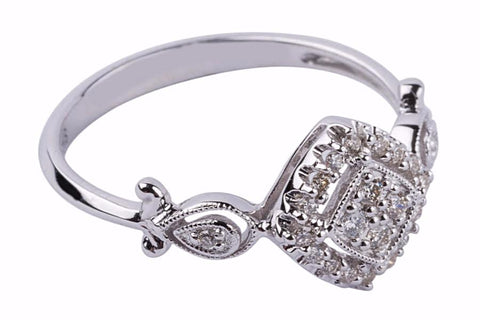 Gabriel & Co. Diamond Ring in 14k White Gold .25 carats - Aatlo Jewelry Gallery