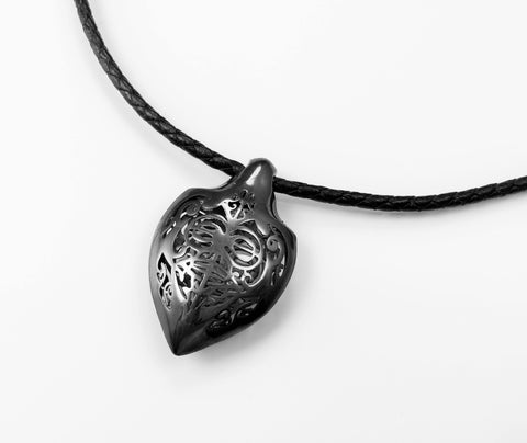 Honu Oxidized Sterling Silver Pendant - Done - Aatlo Jewelry Gallery