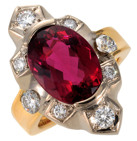 Gordon Aatlo Legacy Collection: Rubelite and Diamond Ring - Aatlo Jewelry Gallery